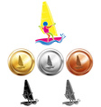 Different medals for sailing vector image