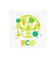 Eco Concept background with abstract tree Eco vector image
