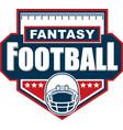 fantasy football logo design vector image vector image