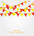 festive ribbon stylish beautiful background vector image
