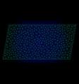 filled parallelogram polygonal frame mesh vector image
