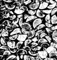Firewood tree cut black and white grunge wood vector image