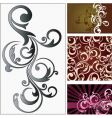 floral graphic elements vector image vector image
