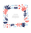 floral greeting card hand drawn layout vector image