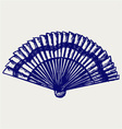 Folding fan vector image vector image