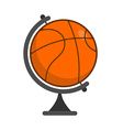 Globe basketball World game Sports accessory as vector image vector image