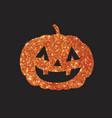 golden glitter silhouette halloween holiday vector image vector image
