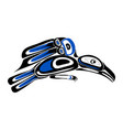 haida raven tattoo vector image vector image