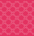 hearts seamless pattern love red vector image