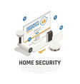 home security design concept vector image vector image