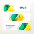 Horizontal banners in Brazil color concept vector image