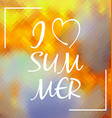 I love Summer over colorful polygonal background vector image vector image