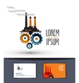 industry logo design template factory or work icon vector image vector image