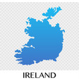 ireland map in europe continent design vector image