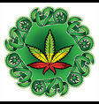 Jamaican color cannabis marijuana leaf symbol