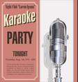 karaoke night vector image vector image