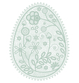 lace Easter egg vector image vector image