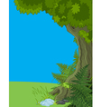 Landscape with Tree and Fern vector image