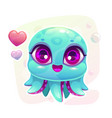 little cute cartoon baoctopus vector image