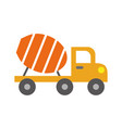 mixer construction vehicle isolated icon vector image vector image