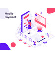 mobile marketing isometric modern flat design vector image