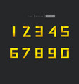 modern number design number one to nine and zero vector image