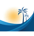 Palm tree design vector image vector image