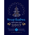 Party Christmas flyer Poster New Year 2017 vector image vector image
