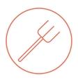 Pitchfork line icon vector image vector image