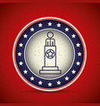 president inside button of vote concept vector image vector image