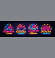 ramadan kareem collection neon signs ramadan vector image