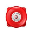 red fire alarm bell - wall siren school alarm vector image vector image