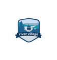 river-village-logo vector image