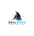 sail boat logo design template isolated vector image vector image