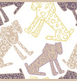 seamless pattern of dogs vector image vector image