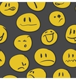 set hand drawn emoticons eps8 vector image