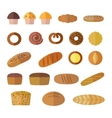 Set of icons in a flat style on the baking theme vector image vector image