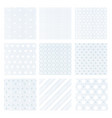 set of nine gentle faded blue vector image