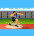 shot putter in a shot put competition vector image vector image