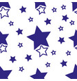 simple pattern wth blue stars on white background vector image vector image