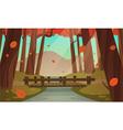 Small wooden bridge in the woods vector image