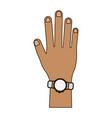 smartwatch on wrist vector image vector image