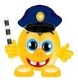 Smile police on white background vector image