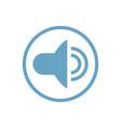 sound flat icon vector image