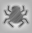 spider sign pencil sketch vector image vector image