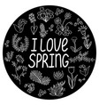 spring round template vector image