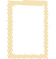 stitched patch frame embroidery seam badge texture vector image vector image