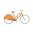 Stylish womens bicycle isolated on white vector image vector image