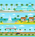 summer cruise vacation banners vector image vector image