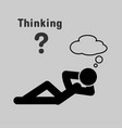 symbol people lying thinking vector image vector image